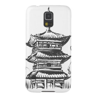 Sketch of Japan Landmark - Kiyomizu Temple Galaxy S5 Cover