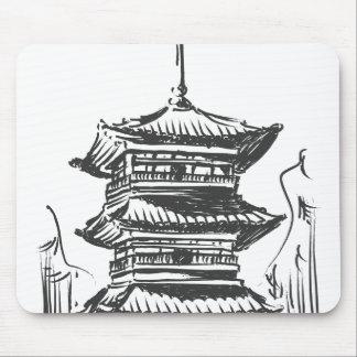 Sketch of Japan Landmark - Kiyomizu Temple Mousepad