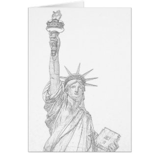 Sketch of Liberty Greeting Card