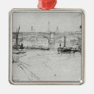 Sketch of London Bridge, 1860 Metal Ornament