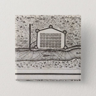 Sketch of new Orleans taken from fort St Charles Pinback Button
