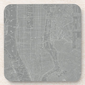 Sketch of New York City Map Drink Coaster