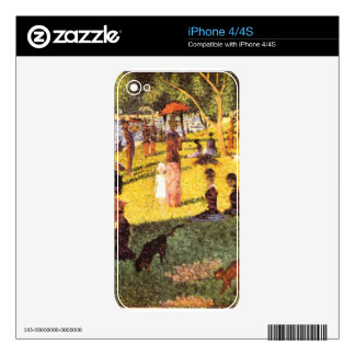 Sketch of people by Georges Seurat Skins For iPhone 4S