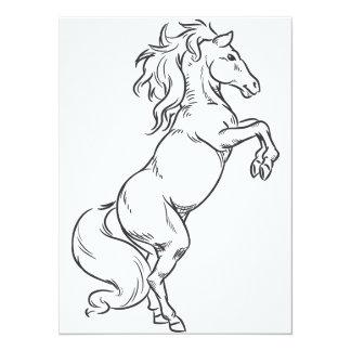 Sketch of Prancing Stallion or Horse Card