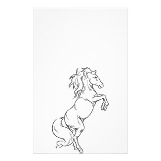 Sketch of Prancing Stallion or Horse Flyers