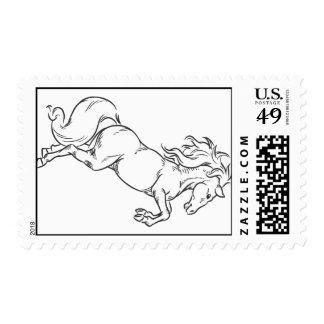 Sketch of Prancing Stallion or Horse Postage Stamp