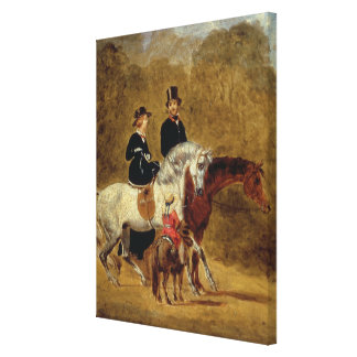 Sketch of Queen Victoria, The Prince Consort & HRH Canvas Print