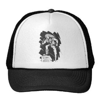 Sketch of Rocker Singing on Concert Trucker Hat