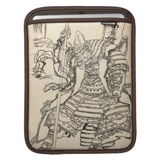Sketch of samurai warrior Kato Kiyomasa Hokusai Sleeves For iPads