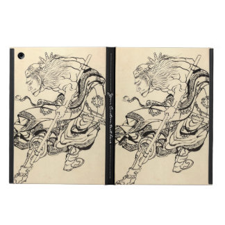 Sketch of Samurai Warrior with lion mask Hokusai Case For iPad Air