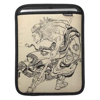 Sketch of Samurai Warrior with lion mask Hokusai Sleeve For iPads