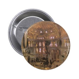 Sketch of Santa Sophia by Sargent, Victorian Art 2 Inch Round Button