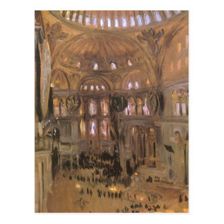 Sketch of Santa Sophia by Sargent, Victorian Art Postcard