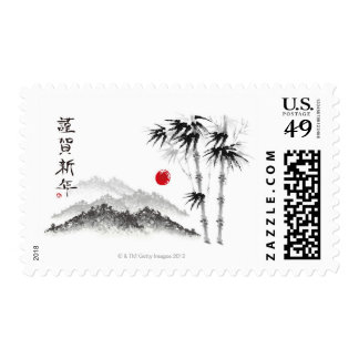 Sketch of Scenery Stamp