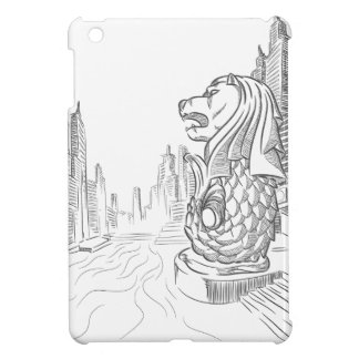 Sketch of Singapore Tourism Landmark - Merlion iPad Mini Cover