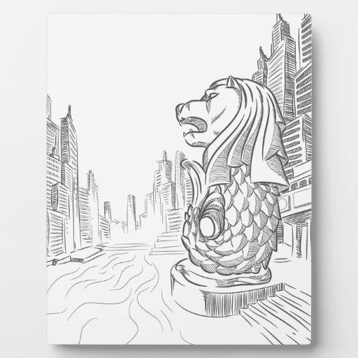 Sketch Of Singapore Tourism Landmark
