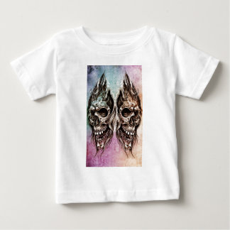 Sketch of tattoo art, skull head illustration, ove baby T-Shirt