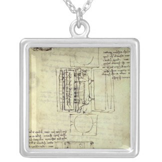 Sketch of the Casting Pit for the Sforza Horse Silver Plated Necklace