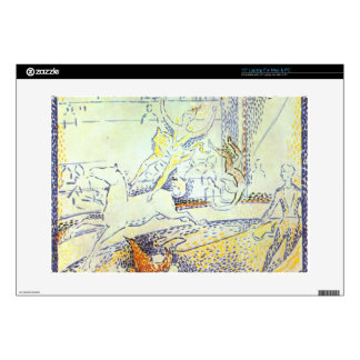 Sketch of the circus by Georges Seurat Laptop Skins