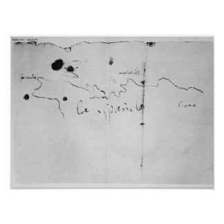 Sketch of the coast of Espanola, Posters