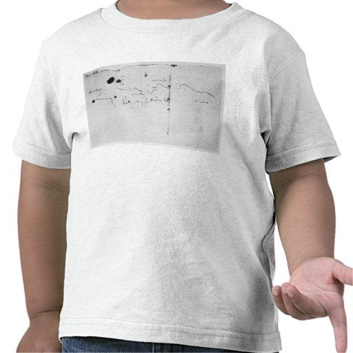 Sketch of the coast of Espanola, T-shirts