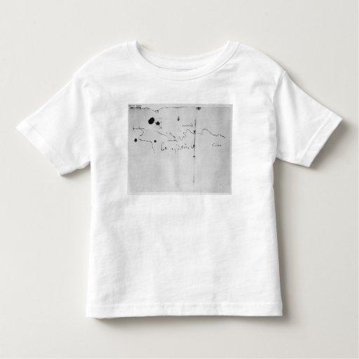 Sketch of the coast of Espanola, Toddler T-shirt