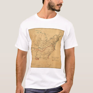 Sketch of the Rebellion Civil War Map (May 1862) T-Shirt