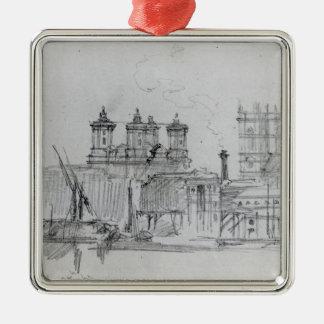 Sketch of Westminster, 1860 Metal Ornament