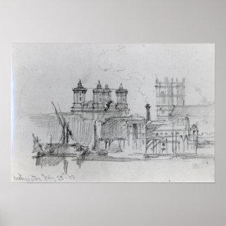Sketch of Westminster, 1860 Poster