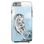 Sketch of white horse running iPhone 6 case