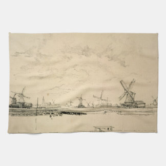 Sketch of Windmills Hand Towels