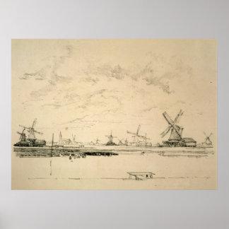 Sketch of Windmills poster/print