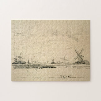 Sketch of Windmills Jigsaw Puzzles