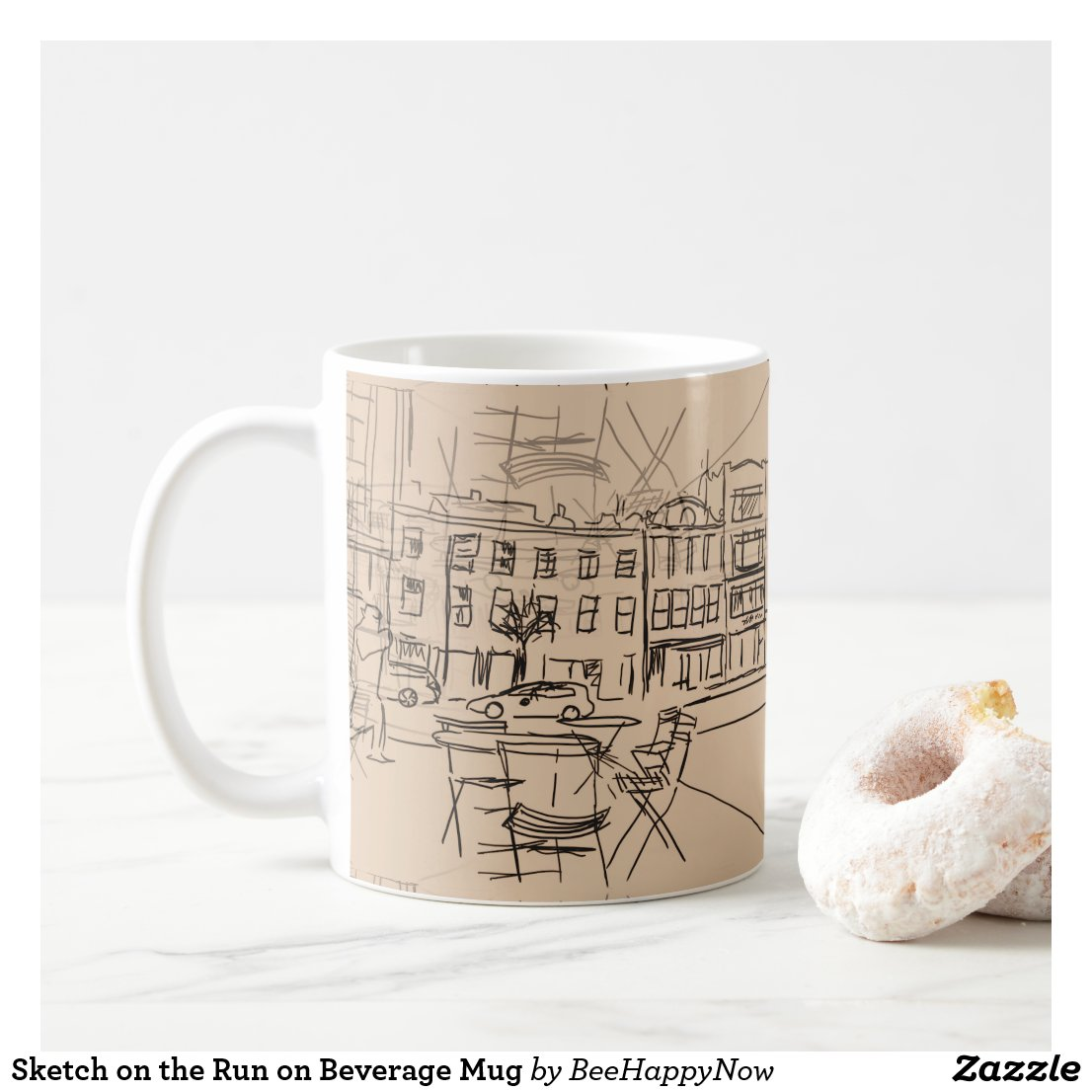 Sketch on the Run on Beverage Mug