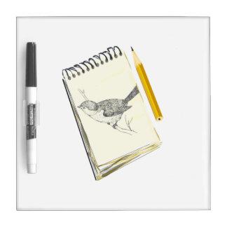 Sketch Pad Bird Dry Erase Whiteboards