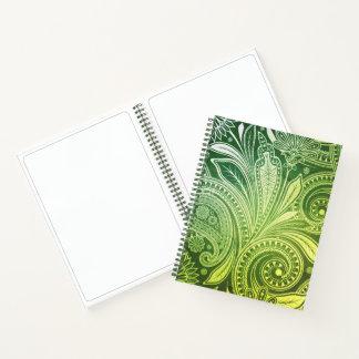 Sketch Pad Notebook-Flora Greens Notebook