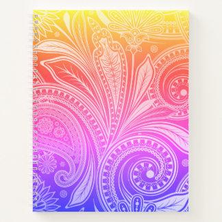 Sketch Pad Notebook-Flora Rainbow Notebook