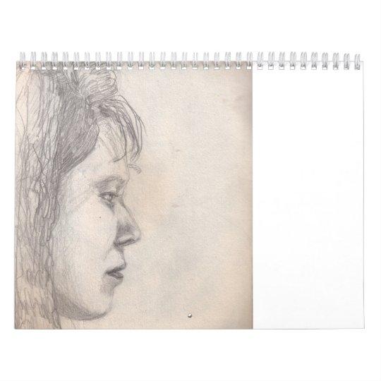 sketch pencil calendar