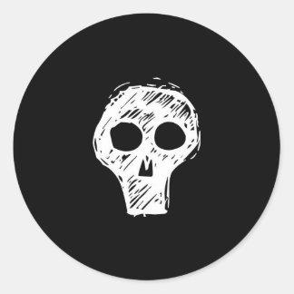 Sketch Skull Sticker