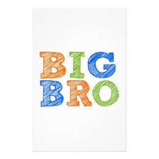 Sketch Style Big Bro Personalized Stationery