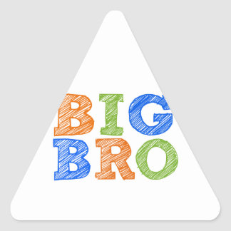 Sketch Style Big Bro Triangle Sticker