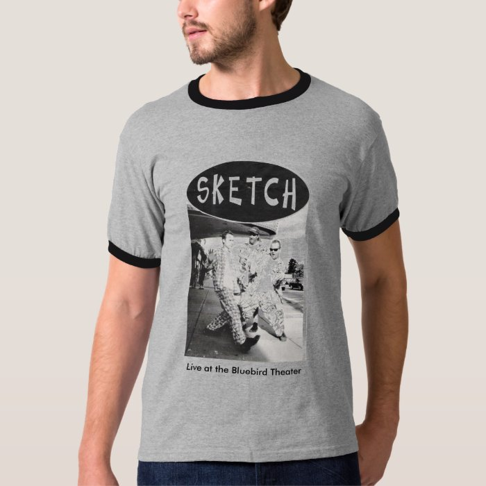 sketch t-shirt  Live at the Bluebird Theater