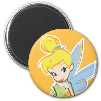 Sketch Tinker Bell 3 2 Inch Round Magnet