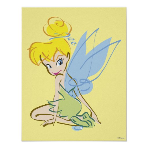 Sketch Tinker Bell 4 Poster