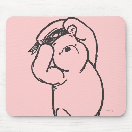 Sketch Winnie the Pooh 1 Mouse Pad
