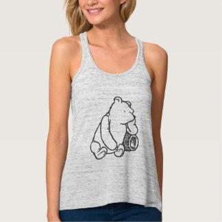 Sketch Winnie the Pooh 2 Flowy Racerback Tank Top