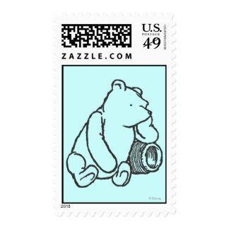 Sketch Winnie the Pooh 2 Postage Stamp