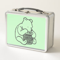 Sketch Winnie the Pooh 3 Metal Lunch Box