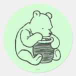 Sketch Winnie the Pooh 3 Round Sticker