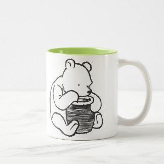 Sketch Winnie the Pooh 3 Two-Tone Coffee Mug